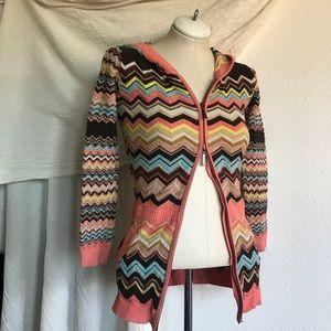 Missoni for Target hoodie cardigan sweater